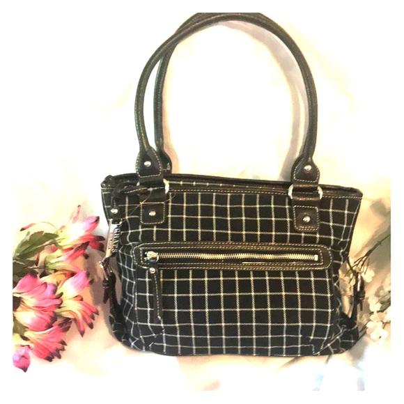 84a2fa3396d3d Chaps checker print tote bag